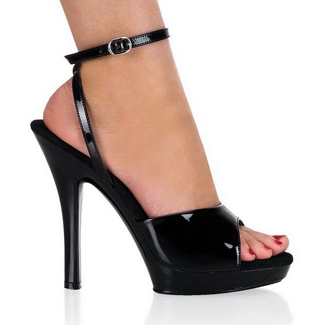 LIP-125 sandalias tacón de aguja charol talla 37 - 38