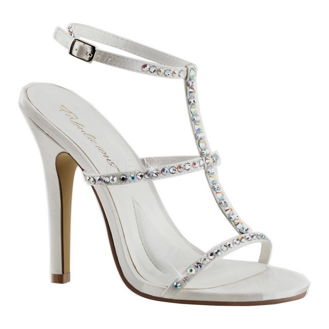 MELODY-18 sandalias de fiesta blanco talla 41 - 42
